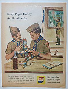 1960 Pepsi Cola (Pepsi) with Boy Scouts & Handicrafts