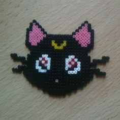 Luna Sailor Moon perler beads by pandacreations