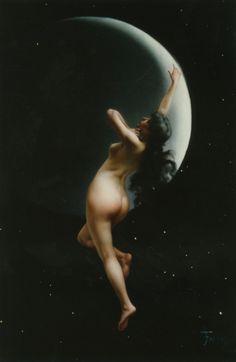 The Moon Nymph (1883)by Luis Ricardo Falero