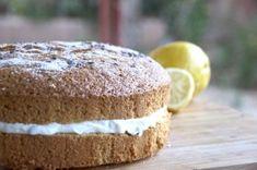 Lemon & Lavender Chiffon Cake with Lavender Honey Cream Filling