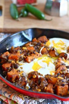 southwestern sweet potato breakfast skillet