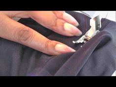 ▶ Sewing an Elastic Waistband with No Casing - YouTube
