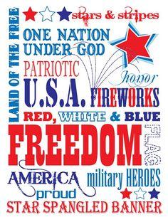 {FREE SUBWAY ART} Americana/Patriotic theme print!