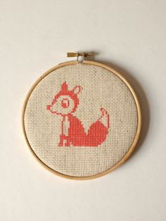 Fox Counted Cross Stitch.