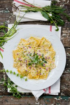 Ravioli in Spiced Butter Sauce
