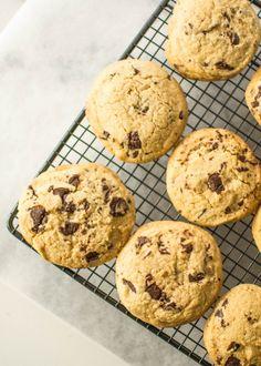 butter and brioche | Malted Dark Chocolate Chunk Cookies | http://www.butterandbrioche.com
