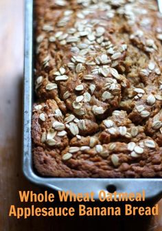 Whole Wheat Oatmeal Applesauce Banana Bread via @Monique Volz | Ambitious Kitchen   #veganfriendly #banana #recipe