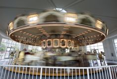 The Hampton Carousel operated at the Buckroe Amusement Park for 65 years before reopening at its current location on Settlers Landing Road in 1991. It is one of fewer than 200 antique wooden carousels remaining in the United States. (Photo by Kaitlin McKeown/Daily Press)