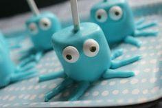 birthday parties, marshmallow pops, cake pops, animal cakes, sea party