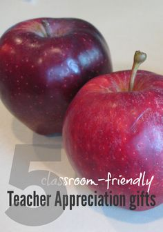 5 classroom friendly teacher appreciation gifts --> super ideas for the WHOLE class to enjoy!