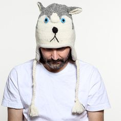 Husky Dog Hat now featured on Fab.