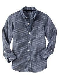 Printed chambray shirt