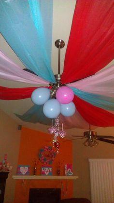 Plastic table clothes valentine's decor