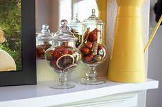 Fall apothecary jars.
