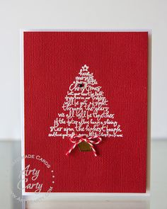 Card designed by Stephanie Lee, using Oh Christmas Tree stamp set.