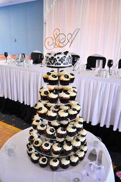 #black #white #wedding #glam