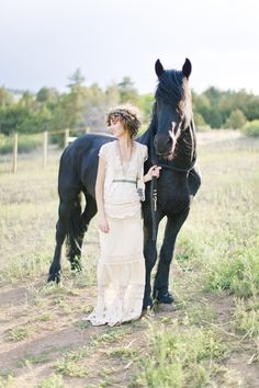 Beauty with horse...