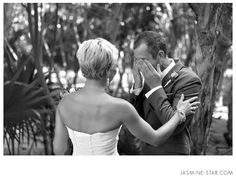 Cancun Wedding : Adam + Laura - Jasmine Star Photography Blog  The First Look