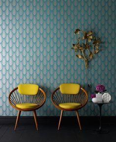 Graham and Brown Art Deco Wallpaper