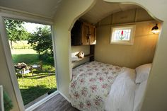 Buttercrambe Shepherd's Hut, Unique Glamping in Yorkshire, Natural Romantic Retreat  www.sheepskinlife.com