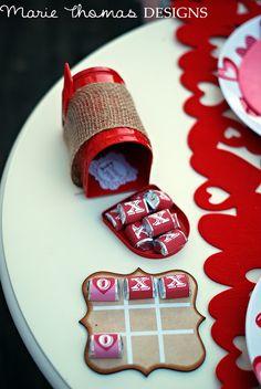 Valentine's Party Idea. Chocolate Tic Tac Toe