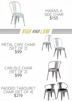 SIFT and SCOUT: High and Low- Industrial chairs