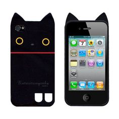 Kutusita Nyanko iPhone 4 / 4S case.  On sale now for only $14.99!