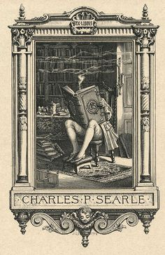 Bookplate of Charles P. Searle (1904). by Sidney Lawton Smith