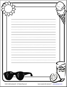 summer writing paper Tips and printable templates for summer themed creative writing for children.