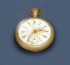 This pocket watch was recovered from a body during the recovery effort. The Titanic sank at 2:20 am. Notice the watch stopped 15 minutes later and never ran again.