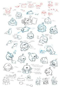Om Nom || CHARACTER DESIGN REFERENCES | Find more at https://www.facebook.com/CharacterDesignReferences if you're looking for: #line #art #character #design #model #sheet #illustration #expressions #best #concept #animation #drawing #archive #library #reference #anatomy #traditional #draw #development #artist #pose #settei #gestures #how #to #tutorial #conceptart #modelsheet #cartoon #monster