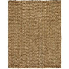 A rug made of jute stands up to the wear and tear of a beach house. | $140