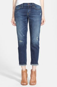 Slouchy boyfriend jeans. | @nordstrom only $88! Need to look into these