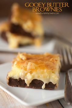 Gooey Butter Brownies Recipe | Buns in my Oven