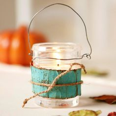 cute homemade candler holder...great for gifts