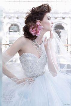lazaro bridal 2014 | Lazaro wedding gowns Fall 2012 collection bridal photo shoot.