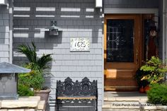 Unique house numbers add interest to any porch! Front-Porch-Ideas-and-More.com #porch