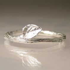 Twig Ring in Sterling Silver, Oxidized or Polished, Wedding Band on Etsy, $62.00
