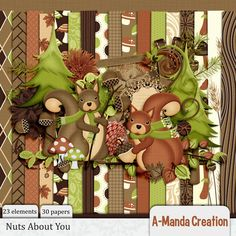 Nuts About You digital scrap kit