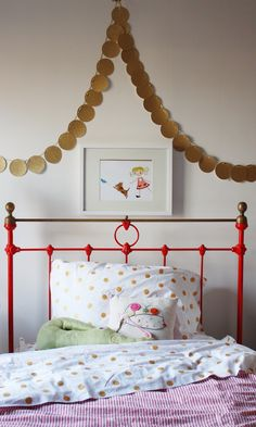 Bright, joyful & modern big girl room.