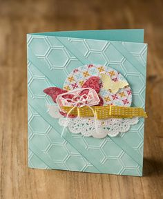 What a fun new use for the Honeycomb Textured Impressions Embossing Folder.