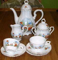 vintage children's tea set