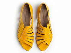 50 OFF Gilly yellow flat sandals by TamarShalem on Etsy