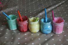 Edible finger paint, fun for everyone!