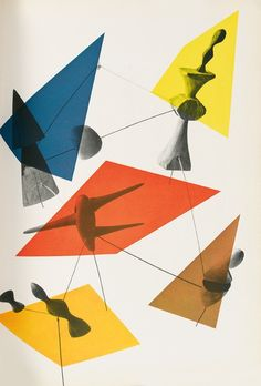 Herbert Bayer with Alexander Calder