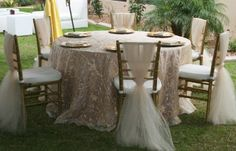 Tulle Chairs