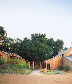The Kavner house is a California take on the classic Adirondack style of upstate New York. The main house is used every weekend and the cabins fill up at family gatherings.