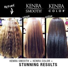 Transform your look with Kenra Smooth® and Kenra Color®!  Work by Kristi at Krazy Beautiful.