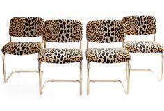 decor, cheetah, leopard print, chairs, anim print, leopard chair, leopards, brass, furnitur