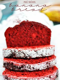 red velvet banana bread